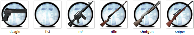 Weapon icons by TikeyBB
